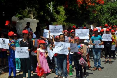 طلائع غسان كنفاني وجبهة العمل الطلابي في اسنادهم للاسرى _ تصوير خالد ابوالجديان (29084559) 