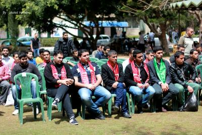 فعاليات جبهة العمل في جامعات غزة _ تصوير خالد ابو الجديان (29084571) 