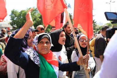 لجنة المتابعة للقوى بغزة تنظم وقفة تضامنية مع سورياً (11)