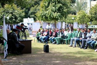 فعاليات جبهة العمل في جامعات غزة _ تصوير خالد ابو الجديان (29084570) 