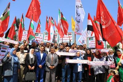 لجنة المتابعة للقوى بغزة تنظم وقفة تضامنية مع سورياً (8)
