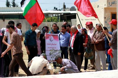 فعاليات جبهة العمل في جامعات غزة _ تصوير خالد ابو الجديان (29084565) 