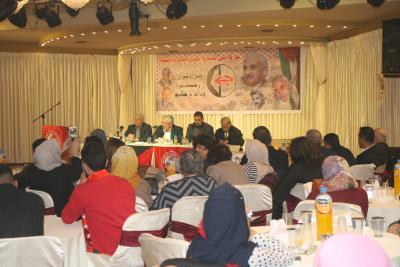 الشعبية في نابلس تنظم ندوة سياسية بعنوان القضية الفلسطينية إلى أين ؟ (54)
