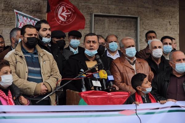 وقفة اسنادية مع سعدات غزة _5.JPG
