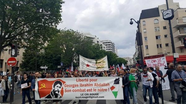مسيرة في باريس تأييد للرفيق بلال كايد07