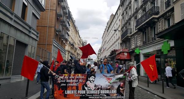 مسيرة في باريس تأييد للرفيق بلال كايد06